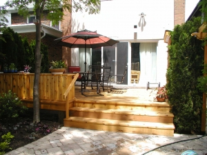 backyard small deck