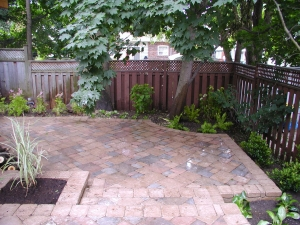 Small backyard patio