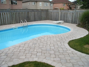 Pool stone patio